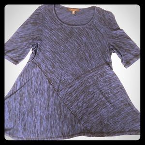 Fever heathered blue and black tunic dress